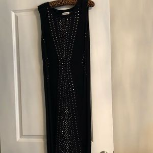 9bb00941f7 Calvin Klein Dresses - Black Calvin s Klein knit dress with silver studs